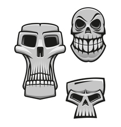 Monster and zombie skulls vector