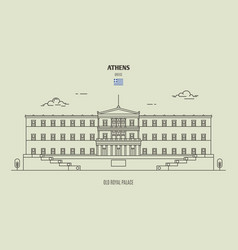 old royal palace athens greece vector image
