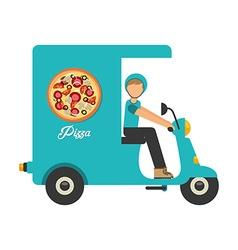 pizza delivery vector image