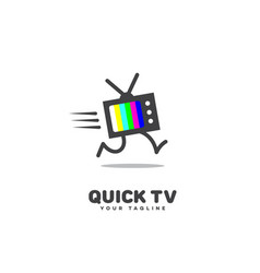 Quick tv logo vector