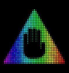 Rainbow dot caution icon vector