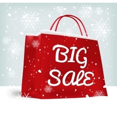 red big sale shopping bag vector image