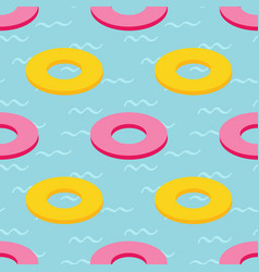 rubber swim rings in swimming pool water pattern vector image