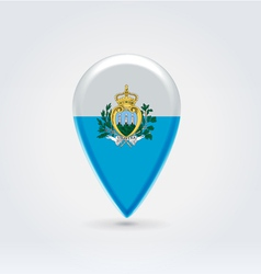 SanMarino icon point for map vector image vector image