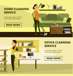 Set of home and office cleaning service vector