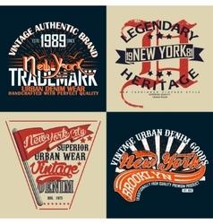 set of tee shirt print design vector image