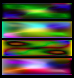 Set of thermal backgrounds vector