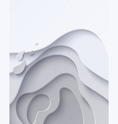 set two abstract white paper cut banners vector image