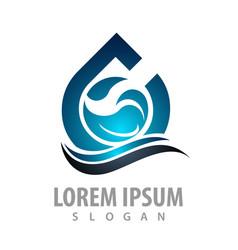 Shiny water drop wave concept design symbol vector