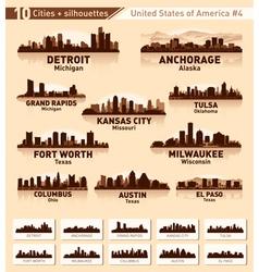 Skyline city set 10 cities usa 4 vector