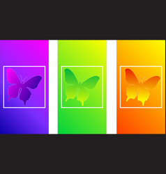 soft color gradients insect butterfly modern des vector image