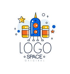 Space logo original space mission and exploration vector