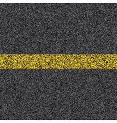 Stripe on asphalt vector