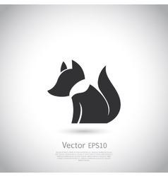 Stylized fox icon vector
