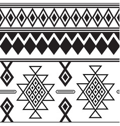 traditional berber geometrical decorations vector image