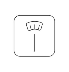 weight scale line icon on white background vector image