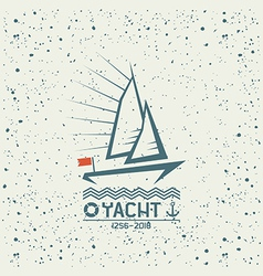Yacht emblem vector image