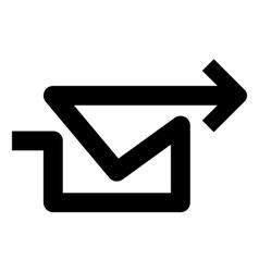 Arrow mail vector image vector image