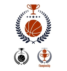 Basketball sporting emblems and symbols vector