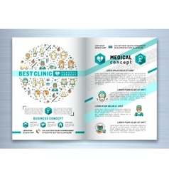Brochure plastic surgery clinic Medical design vector image