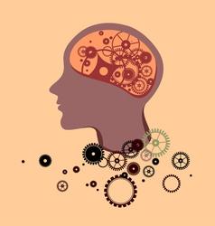 Broken Brain vector image vector image