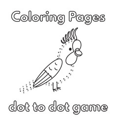 cartoon parrot coloring book vector image