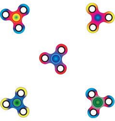 colorful fashionable spinners vector image