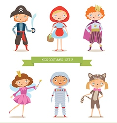 Different kids costumes vector image vector image