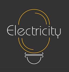 Electric logo in flat style vector