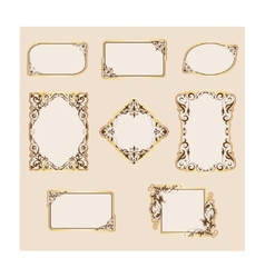 set of template frames and borders vector image