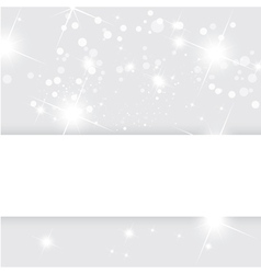 Silver abstract background Christmas templ vector image