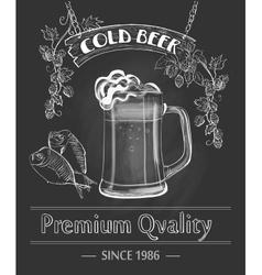 Vintage Beer Bar Poster vector image