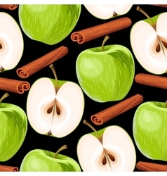 Apple and cinnamon seamless vector