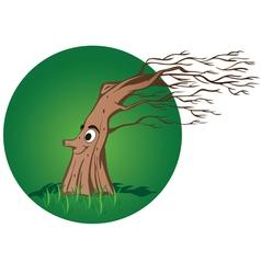 big naked winter tree vector image vector image