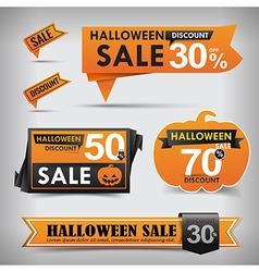 Collection of Halloween web tag banner promotion vector image vector image