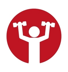 man silhouette weight lift fitness vector image