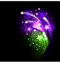 Purple fireworks vector