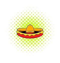 Sombrero icon in comics style vector image