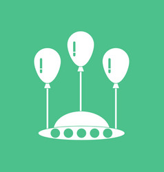 Icon flying saucer and balloons vector