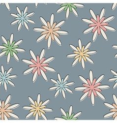 Retro Seamless Flower Background Pastel vector image vector image