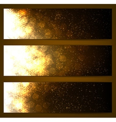 Set of sparkle christmas banners vector image