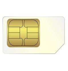 SIM card vector image vector image