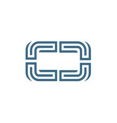 square decoration vintage logo vector image