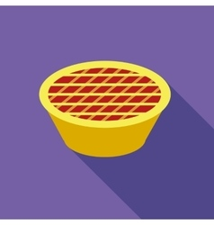 Thanksgiving pie icon flat style vector image