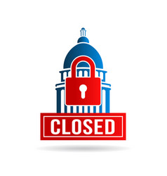 usa government shutdown vector image vector image