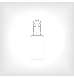 Icon or emblem of the electronic cigarette vector image