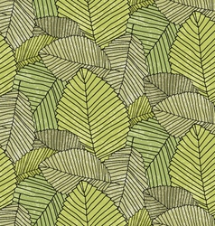 Leafs pattern vector image vector image