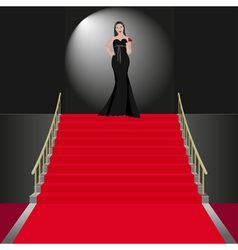 show women in black dress vector image