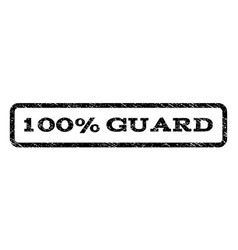 100 percent guard watermark stamp vector