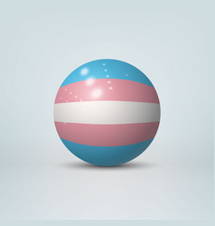 3d ball with flag of transgender pride vector